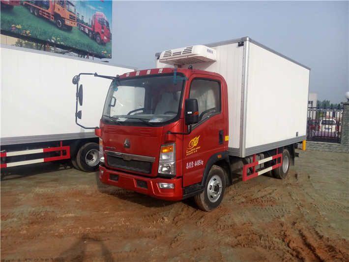 重汽豪沃 4.2米冷藏车