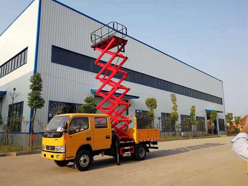 江铃10米升降平台式高空作业车