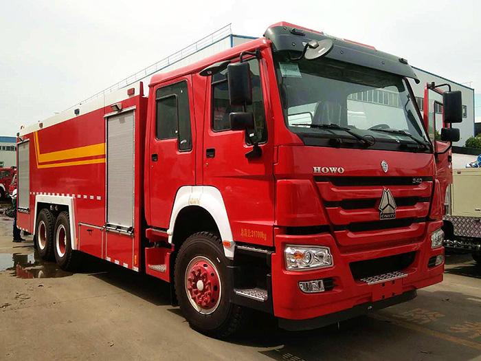 16吨重汽豪沃双桥水罐消防车