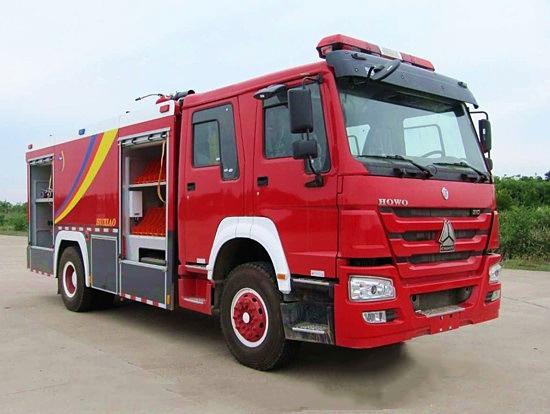 8吨重汽豪沃单桥水罐消防车
